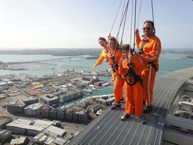Walk on the outside of the Auckland Sky Tower: 100 Family Travel Experiences